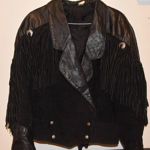 Jackets & Blazers - ♡ EXTREMELY RARE FIND: 80's Vintage Leather Fringe